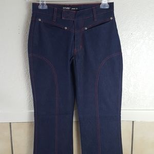Dark wash jeans with red contrast stitching Size 5